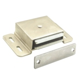 Extra Heavy Duty Magnetic Catch 593 Dull Chrome Finish