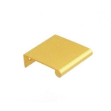 "Aluminum Edge Pull, 1.5"" Satin Brass Anodized"