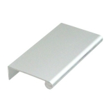 "Aluminum Edge Pull, 3"" Satin Clear Anodized"