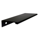 Aluminum Edge Pull, 100mm Satin Black Anodized