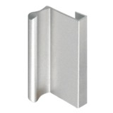 Aluminum Sliding Glass Door Pull, Satin Clear Finish
