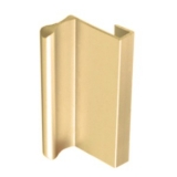 Aluminum Sliding Glass Door Pull, Satin Brass Finish