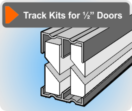 sliding door track is in a variety of styles for three different door thicknesses please choose from below the thickness of the doors youu0027ll