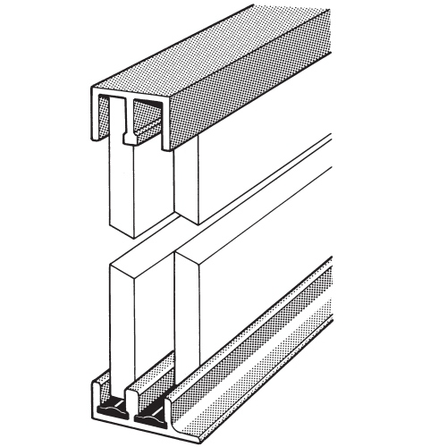 Track Assembly 1, 6ft, Aluminum | Complete Cabinet Hardware